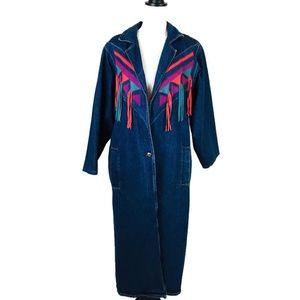 Pioneer Wear Denim Coat Duster Size 8